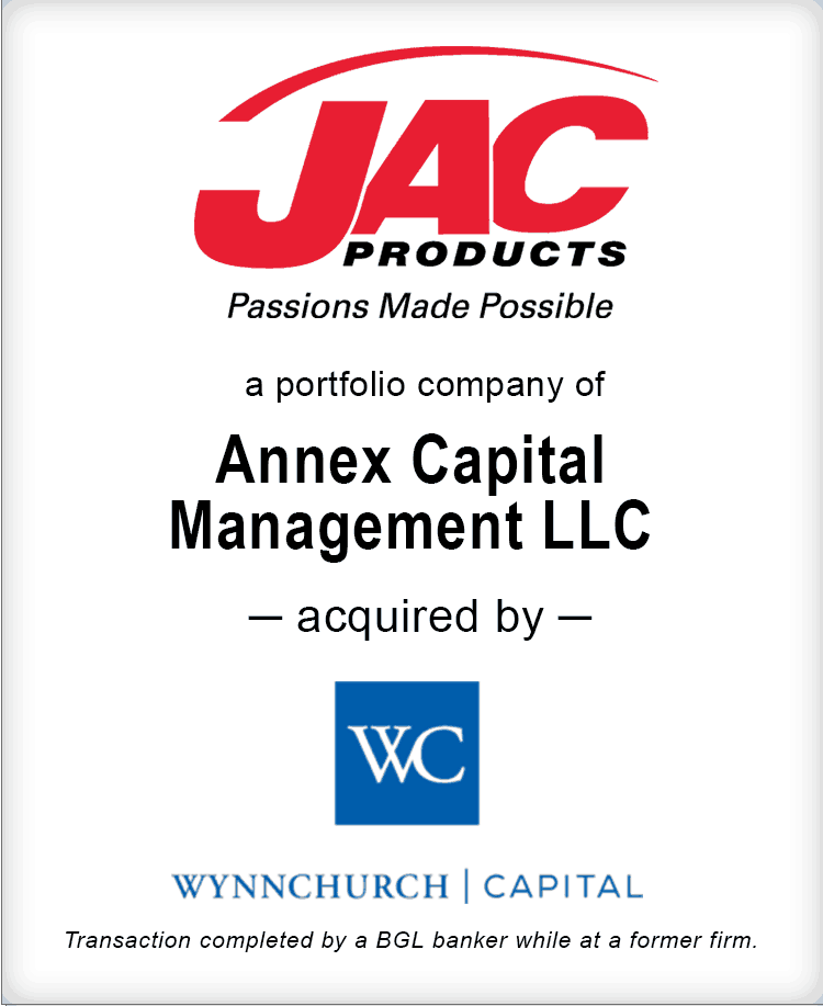Image for JAC Products Acquired By Wynnchurch Capital Transaction