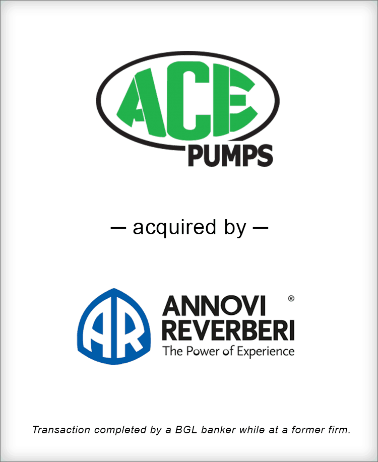 Image for Ace Pump Corporation Acquired by Annovi Reverberi Transaction