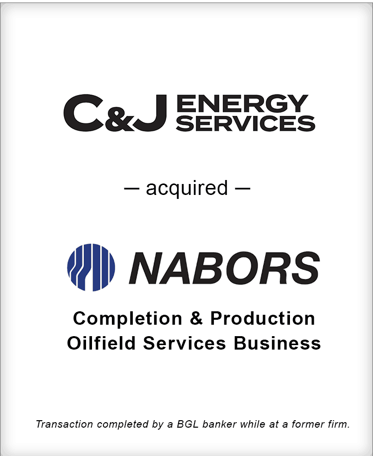 Image for C&J Energy Services Acquired Nabors Completion & Production Oilfield Services Business Transaction