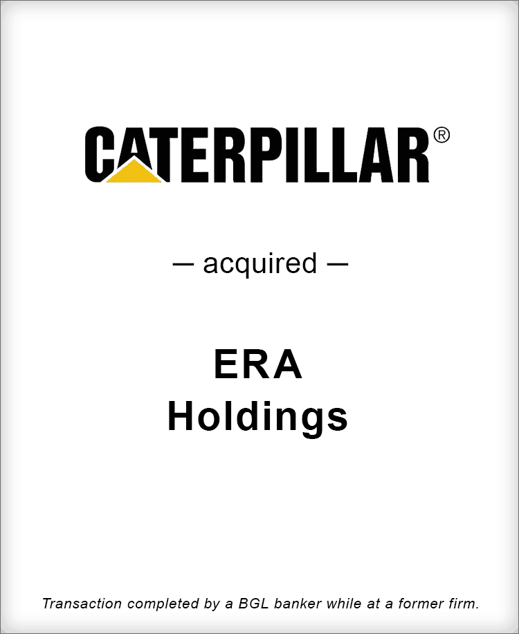 Image for Caterpillar Acquired ERA Holdings Transaction