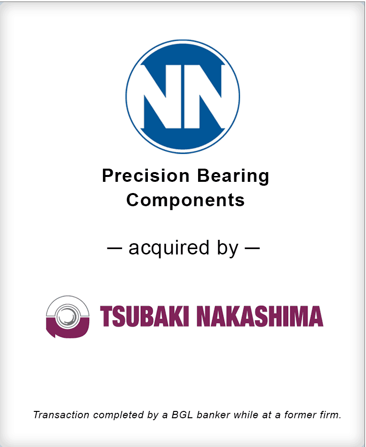 Image for NN, Inc. Precision Bearing Components Acquired by Tsubaki Nakashima Transaction