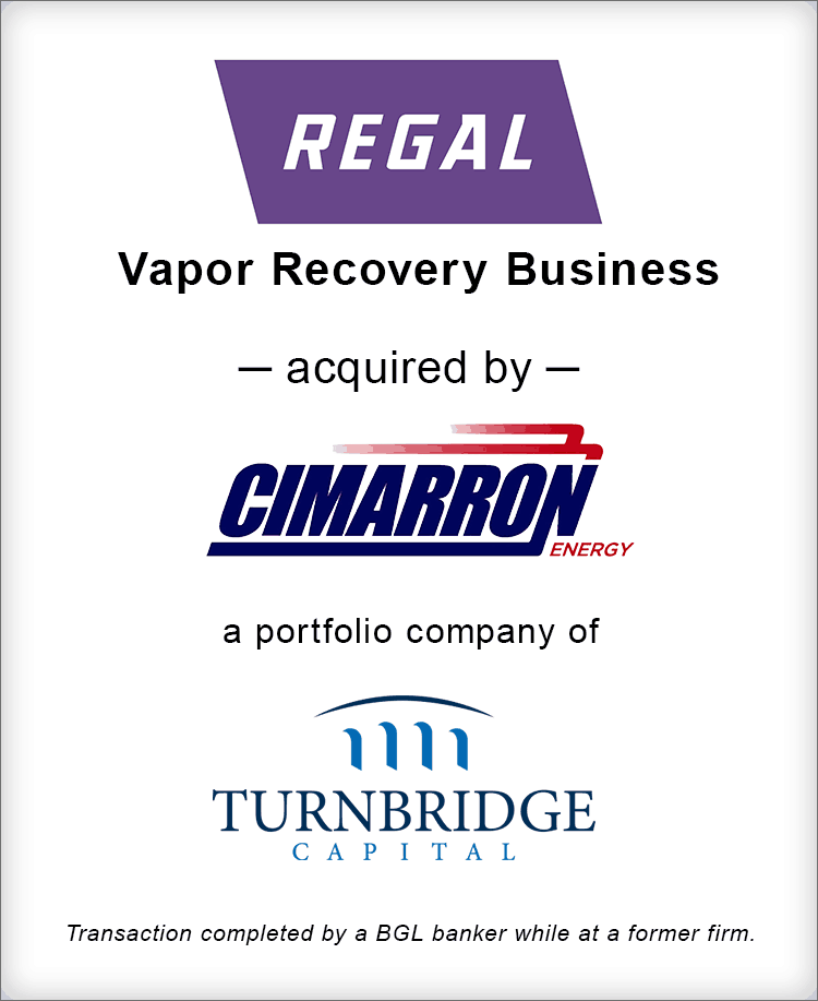 Image for Regal Beloit Vapor Recovery Business Acquired by Cimarron Energy Transaction