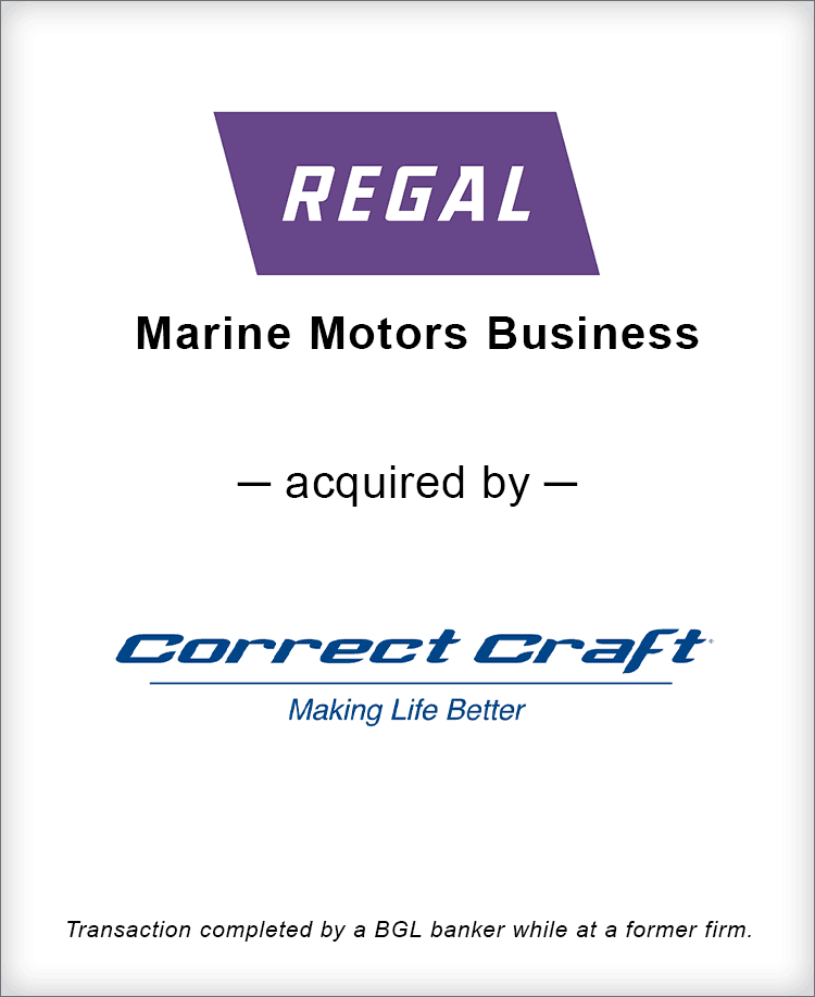 Image for Regal Beloit Marine Motors Business Acquired by Correct Craft Transaction