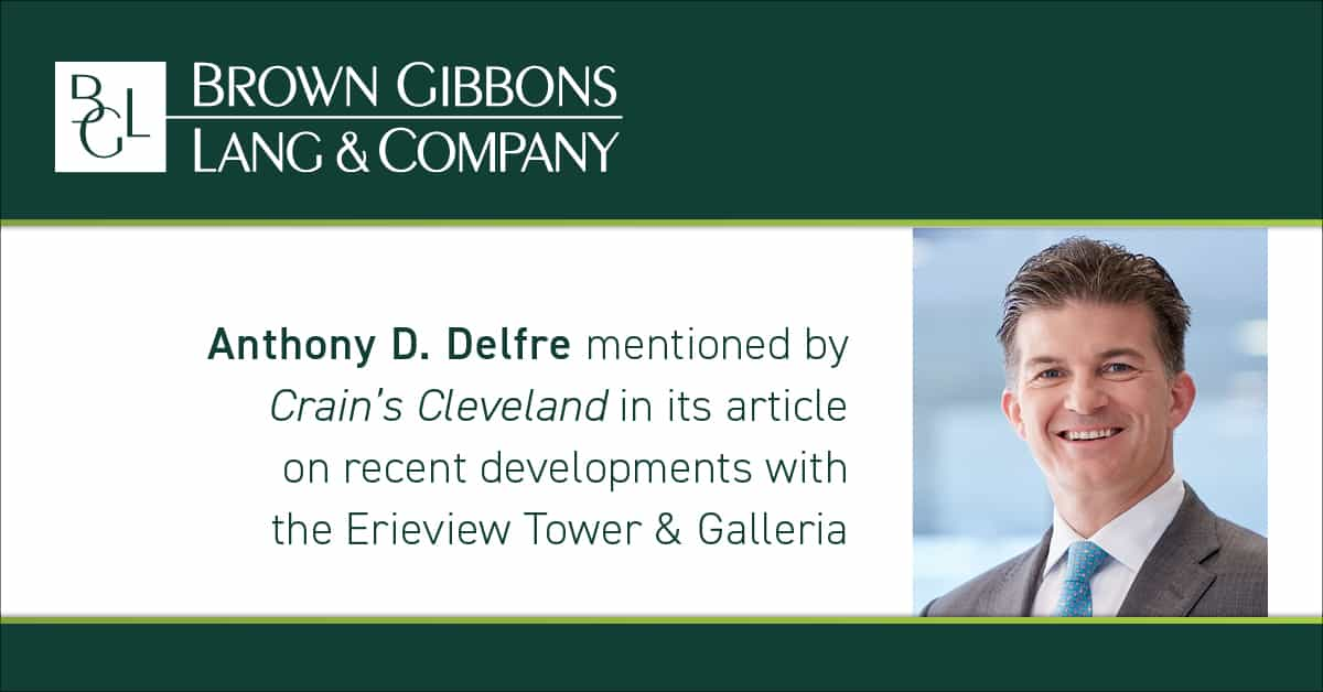 "Image for Anthony D. Delfre mentioned in, ""Mid-century tower seeks preservation aid,"" Crain's Cleveland Business Media Coverage"