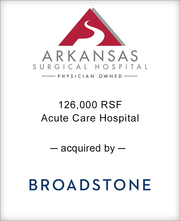Image for BGL Announces the Real Estate Sale of Arkansas Surgical Hospital Press Release