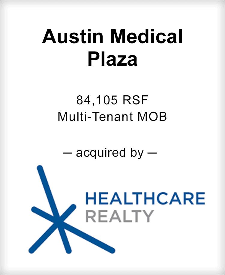 Image for BGL Advises Austin Medical Plaza Transaction