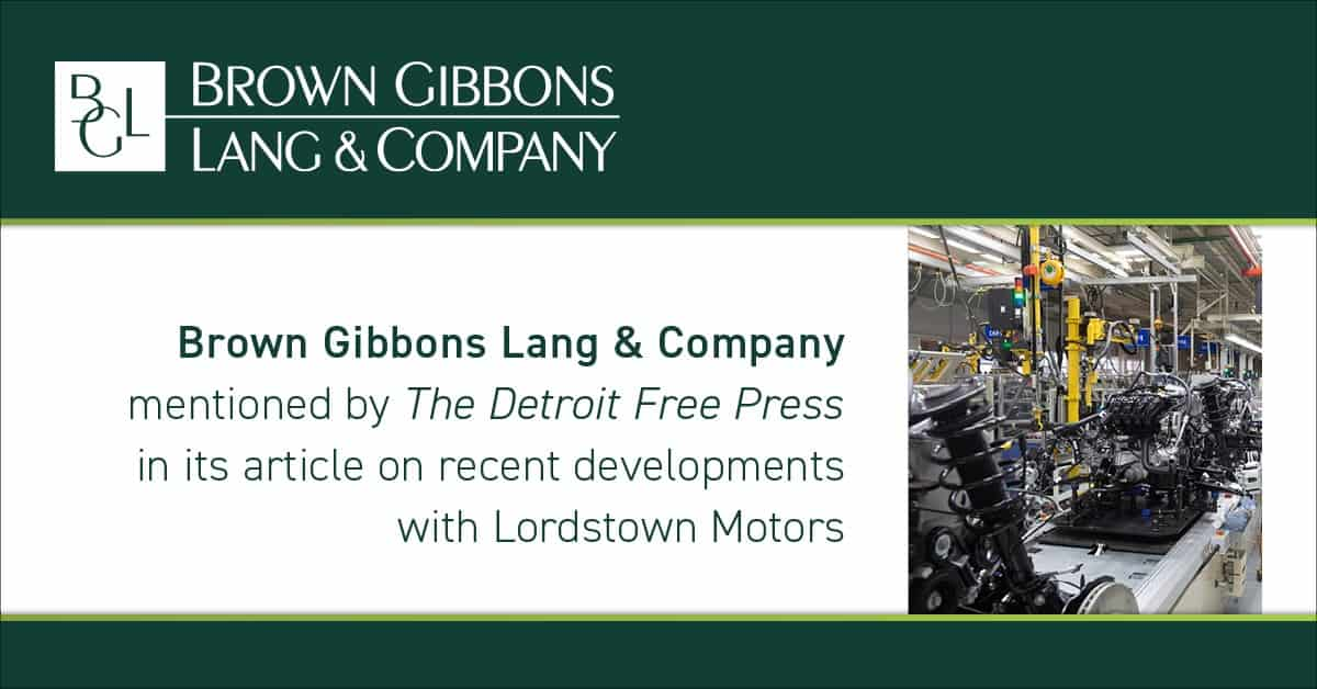 """Image for BGL mentioned in, """"GM's former plant in Lordstown will return to mass vehicle production, thousands of jobs,"""" Detroit Free Press Media Coverage"""