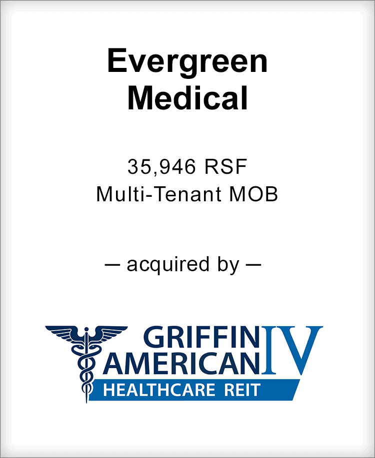 Image for BGL Announces the Real Estate Sale of Evergreen Medical Press Release