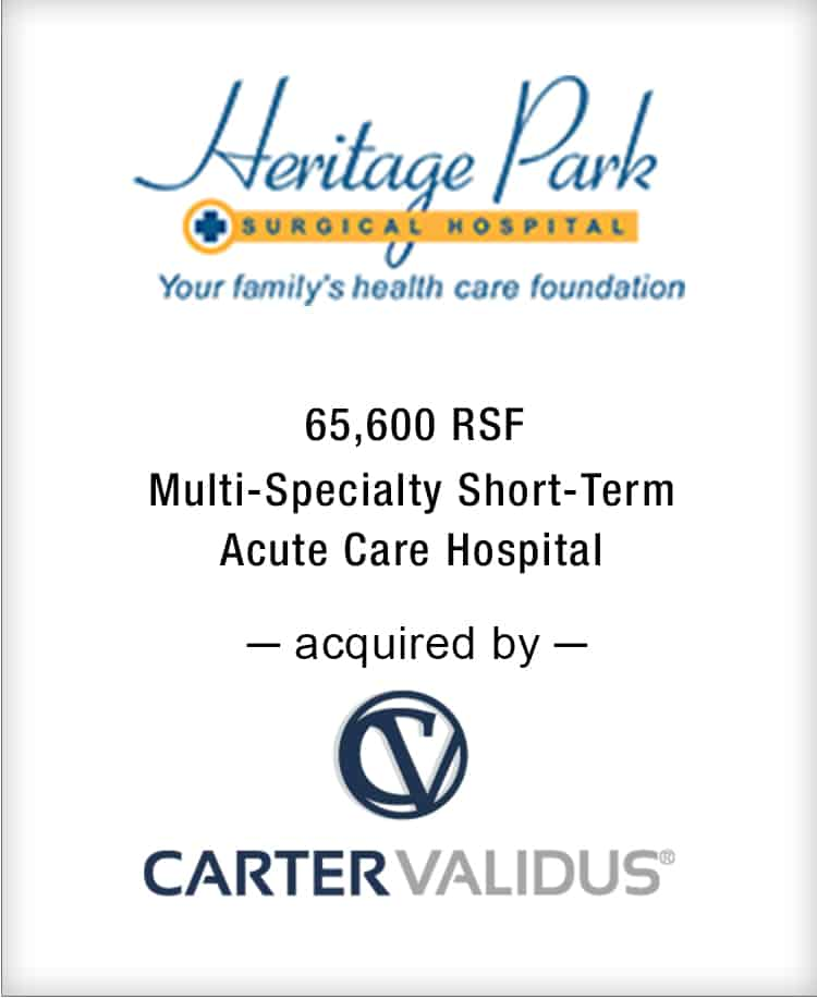 Image for BGL Announces the Real Estate Sale of Heritage Park Surgical Hospital Press Release
