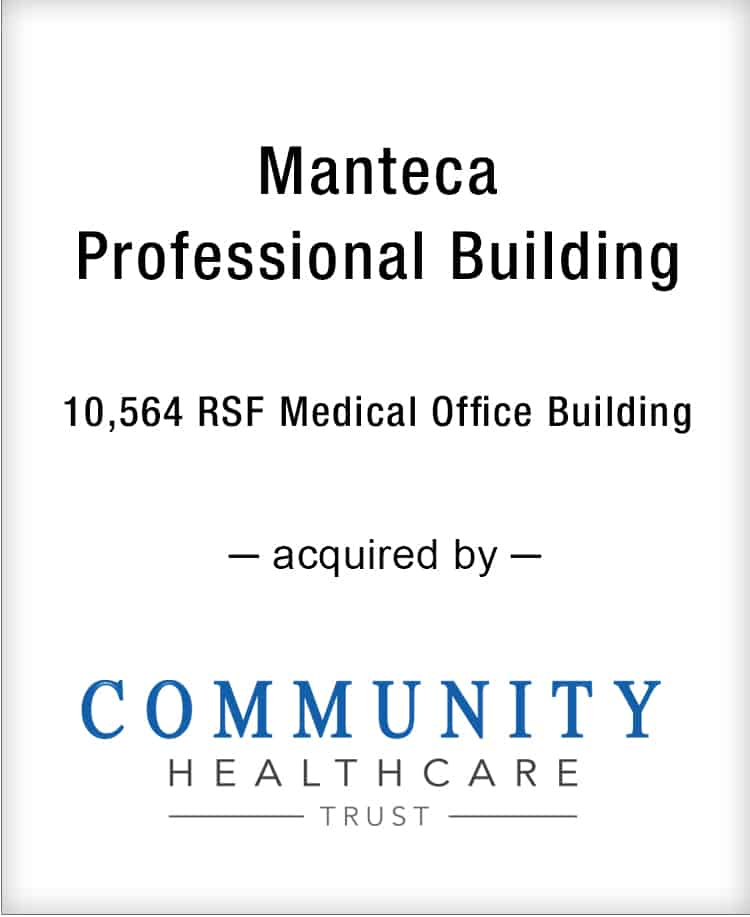 Image for BGL Announces the Real Estate Sale of Manteca Professional Building Press Release