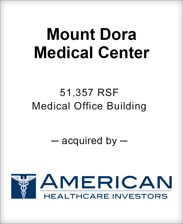 Image for BGL Announces the Real Estate Sale of Mount Dora Medical Center Press Release