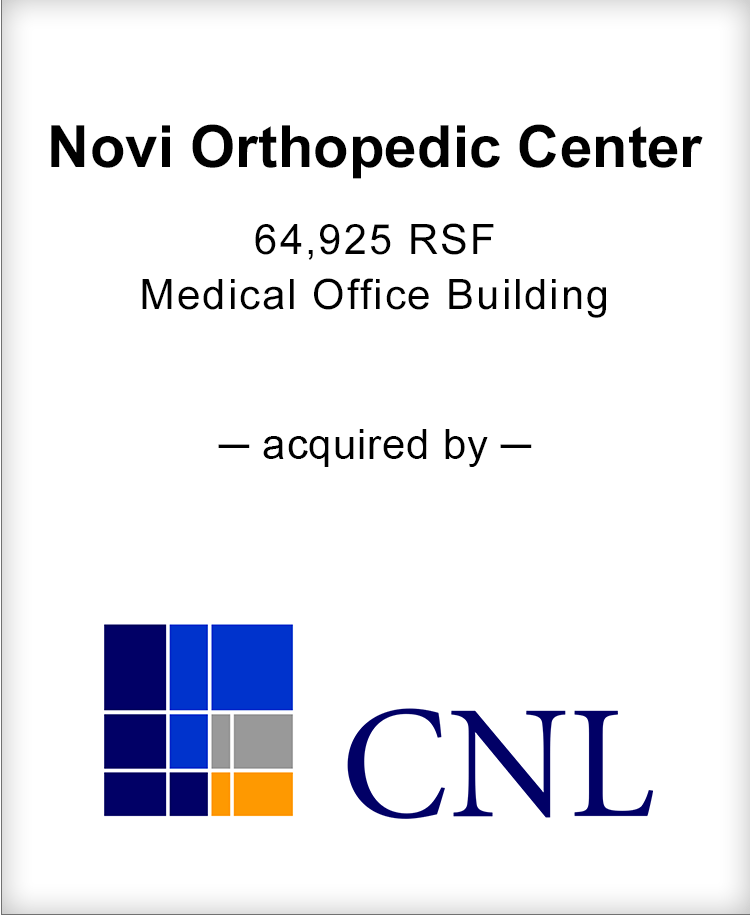 Image for BGL Announces the Real Estate Sale of Novi Orthopedic Center Press Release