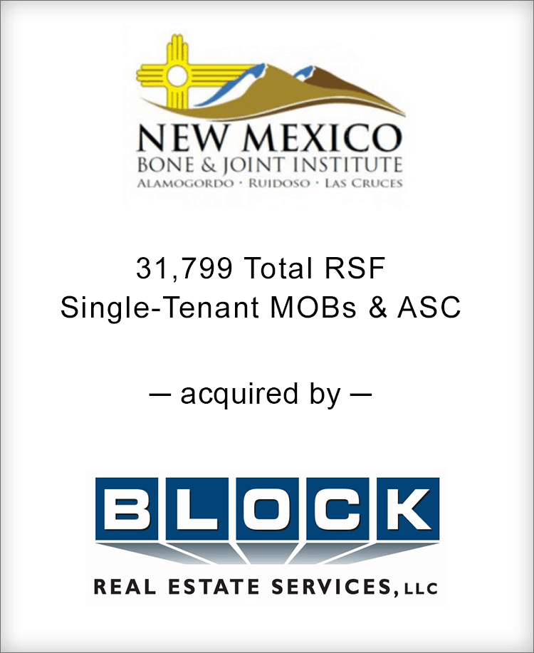 Image for BGL Announces the Real Estate Sale of New Mexico Bone & Joint Institute Portfolio Press Release