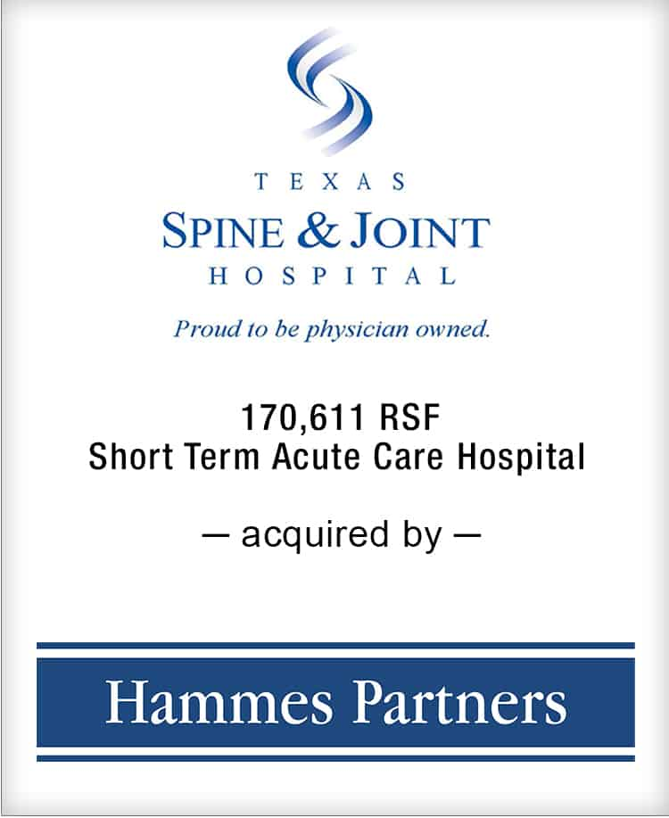 Image for BGL Announces the Real Estate Sale of Texas Spine & Joint Hospital Press Release