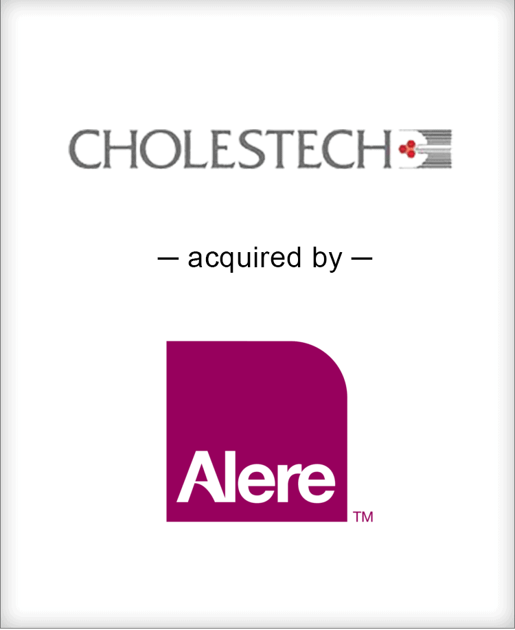 Image for Cholestech Acquired by Alere Transaction