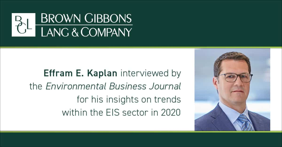 Image for Effram E. Kaplan participates in Q&A about COVID-19's effect on oil & gas for the Environmental Business Journal Media Coverage