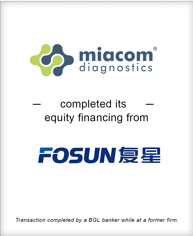 Image for Miacom Diagnostics Completes its Equity Financing from Fosun Diagnostics Transaction