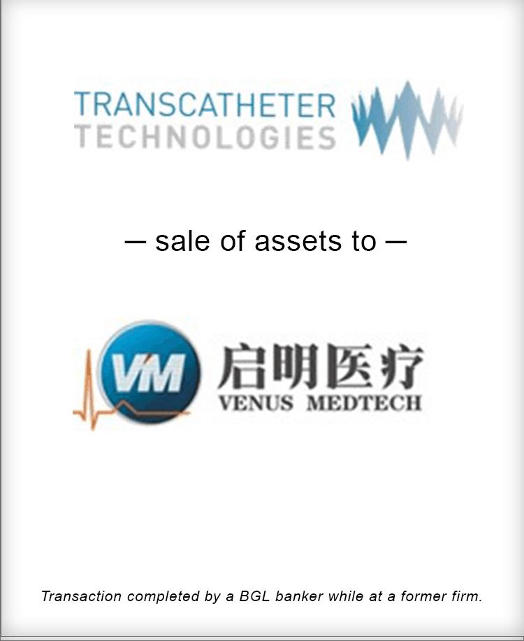 Image for Transcatheter Technologies Sale of Assets to Venus Medtech Transaction
