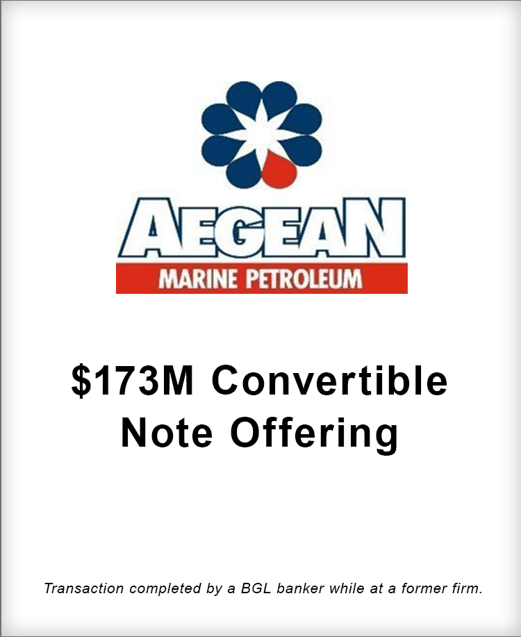 Image for Aegean Marine Petroleum $173M Convertible Note Offering Transaction
