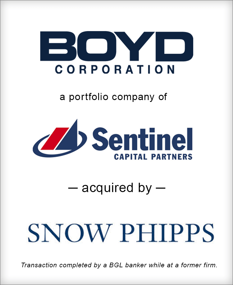 Image for Boyd Corporation acquired by Snow Phipps Transaction