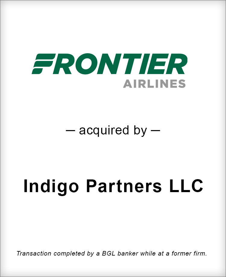 Image for Frontier Airlines Acquired By Indigo Partners LLC Transaction