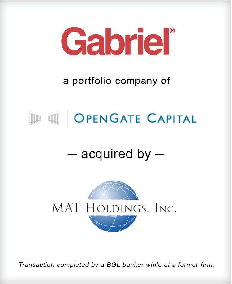 Image for Gabriel acquired by MAT Holdings, Inc. Transaction