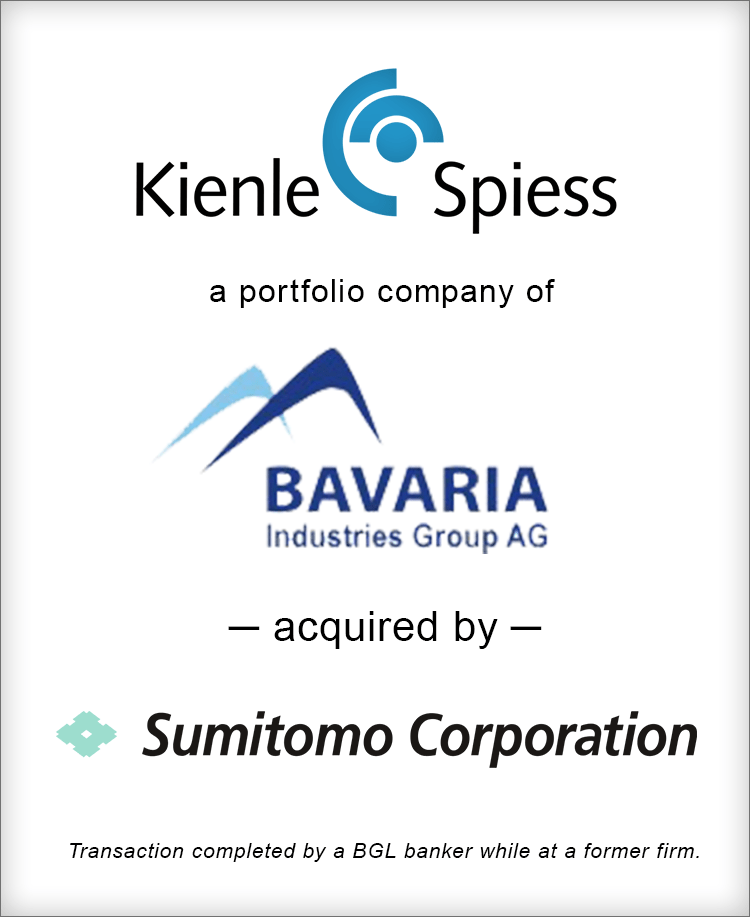 Image for Kienle Spiess acquired by Sumimoto Transaction
