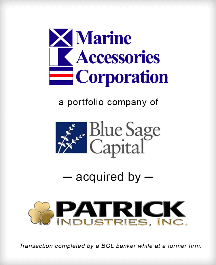 Image for Marine Accessories Corporation acquired by Patrick Industries, Inc. Transaction