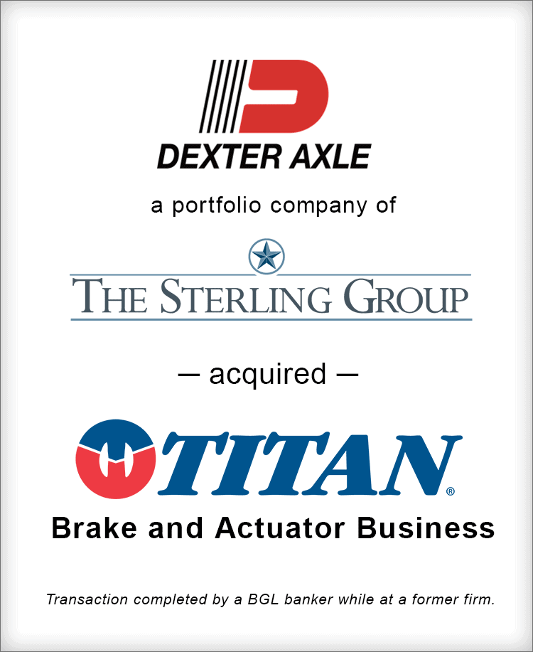 Image for Dexter Axle acquired Titan Transaction