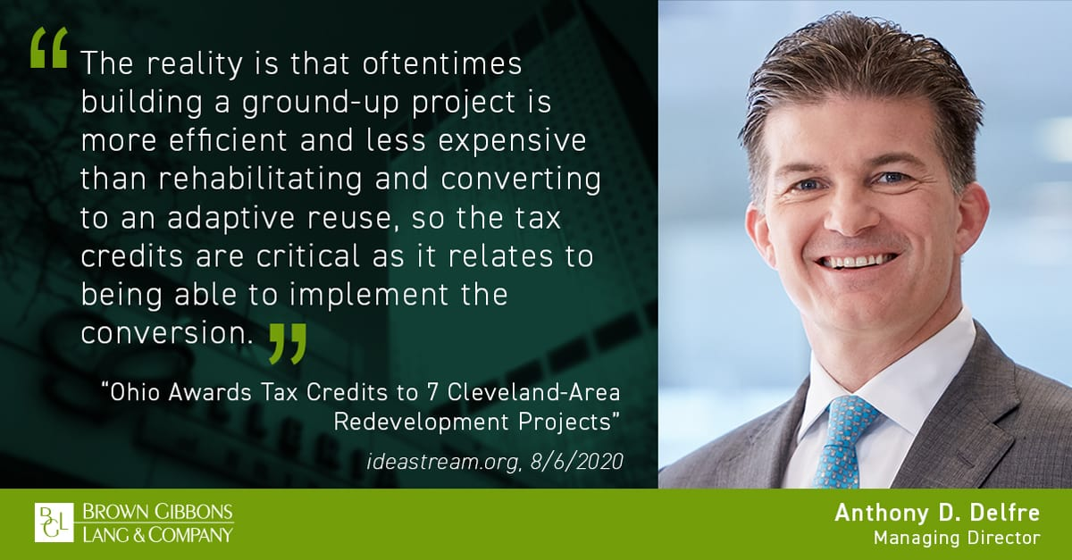 """Image for Anthony D. Delfre interviewed for, """"Ohio Awards Tax Credits to 7 Cleveland-Area Redevelopment Projects,"""" ideastream.com Media Coverage"""