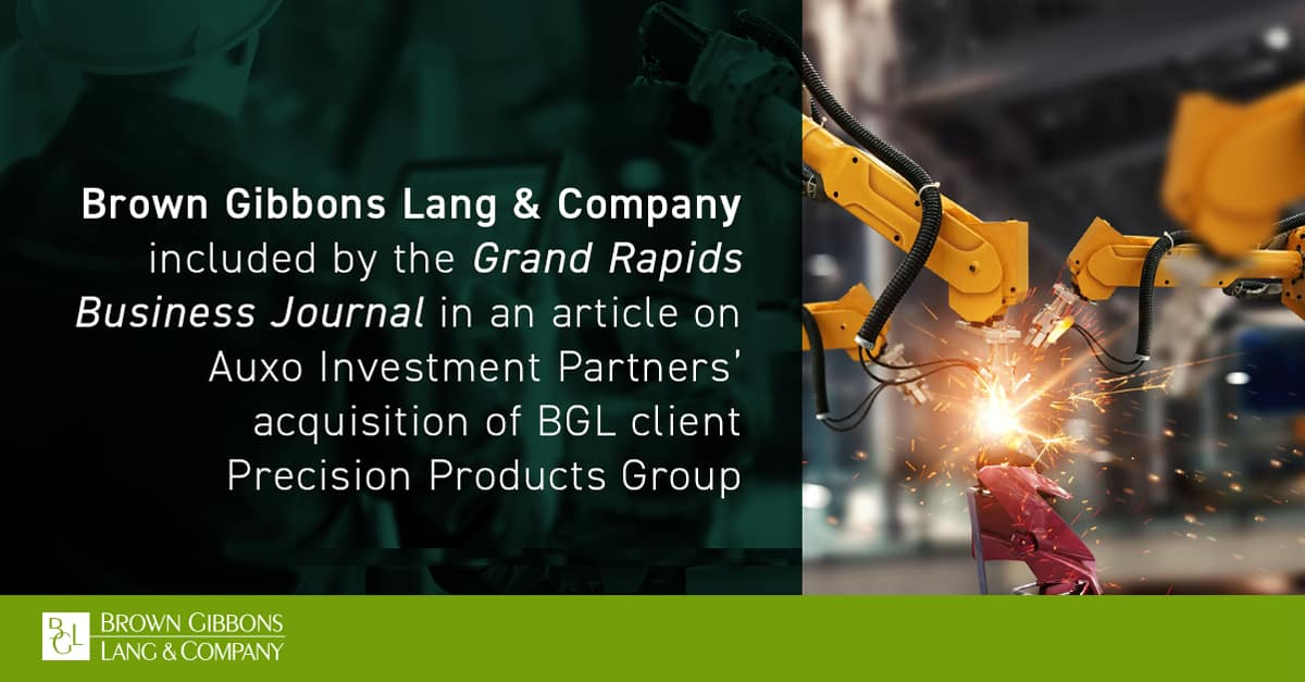 """Image for BGL mentioned in, """"Auxo Investment Partners acquires manufacturers,"""" Grand Rapids Business Journal Media Coverage"""