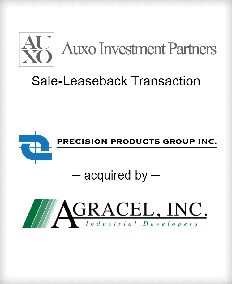 Image for BGL Announces the Sale-Leaseback of Precision Products Group Properties on behalf of Auxo Investment Partners Press Release