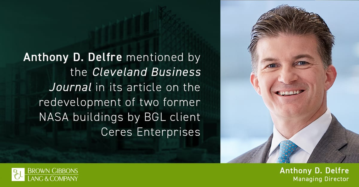 """Image for Anthony D. Delfre mentioned in, """"David Crisafi of Ceres Enterprises excited to redevelop former NASA buildings in Cleveland,"""" Cleveland Business Journal Media Coverage"""