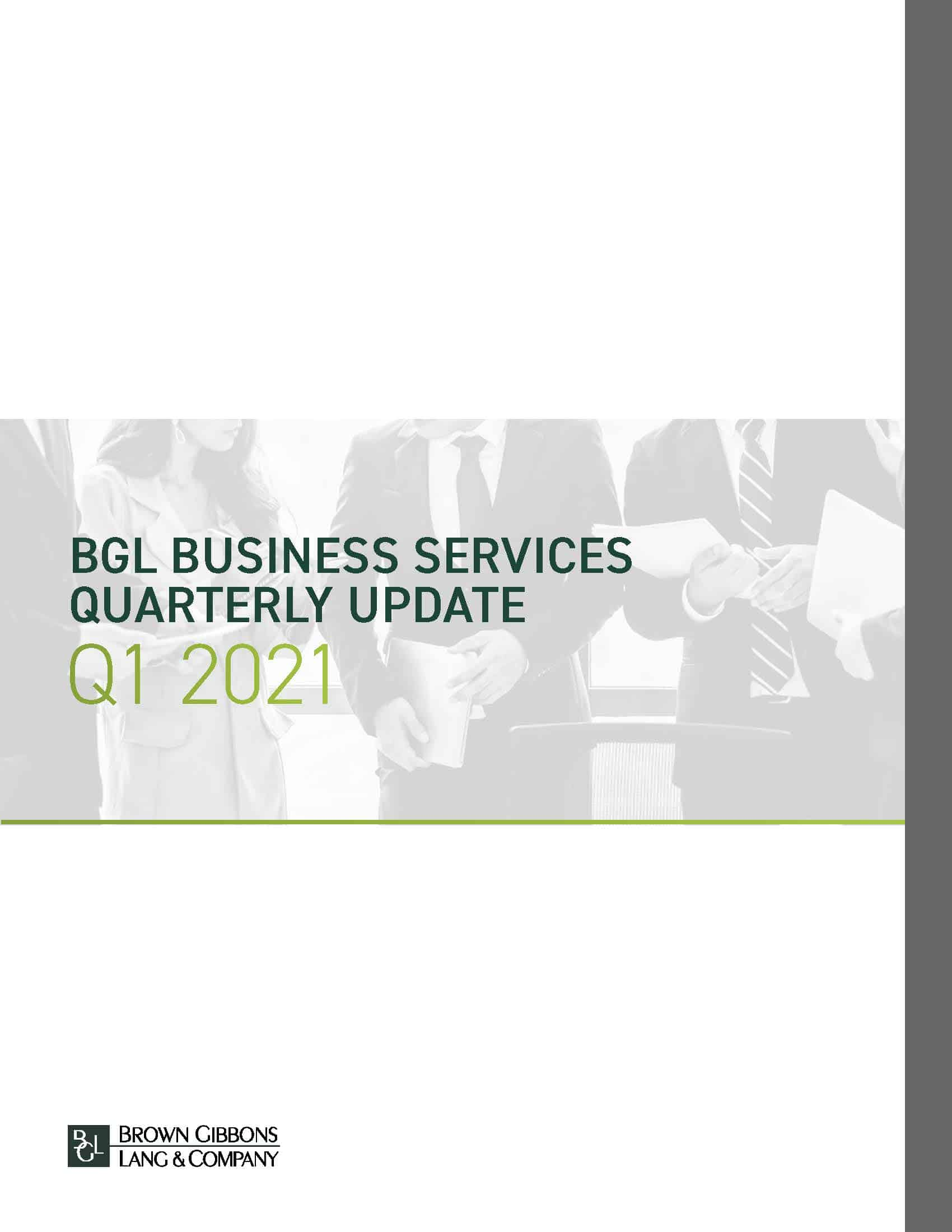 Image for BGL Business Services Quarterly Update – Q1 2021 Research