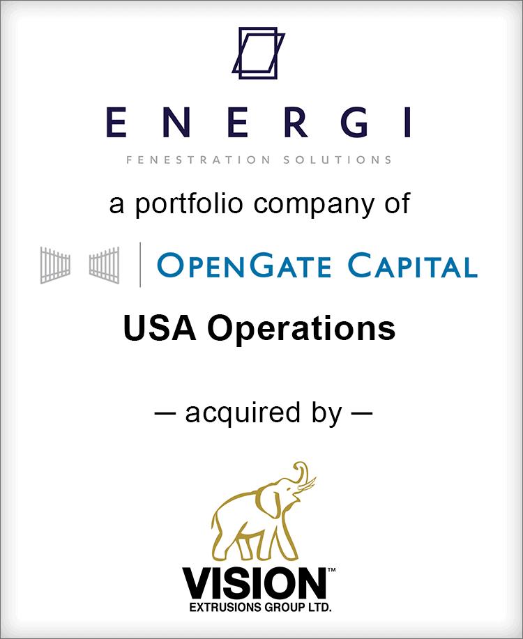 Image for BGL Advises ENERGI Fenestration Solutions – USA Operations Transaction