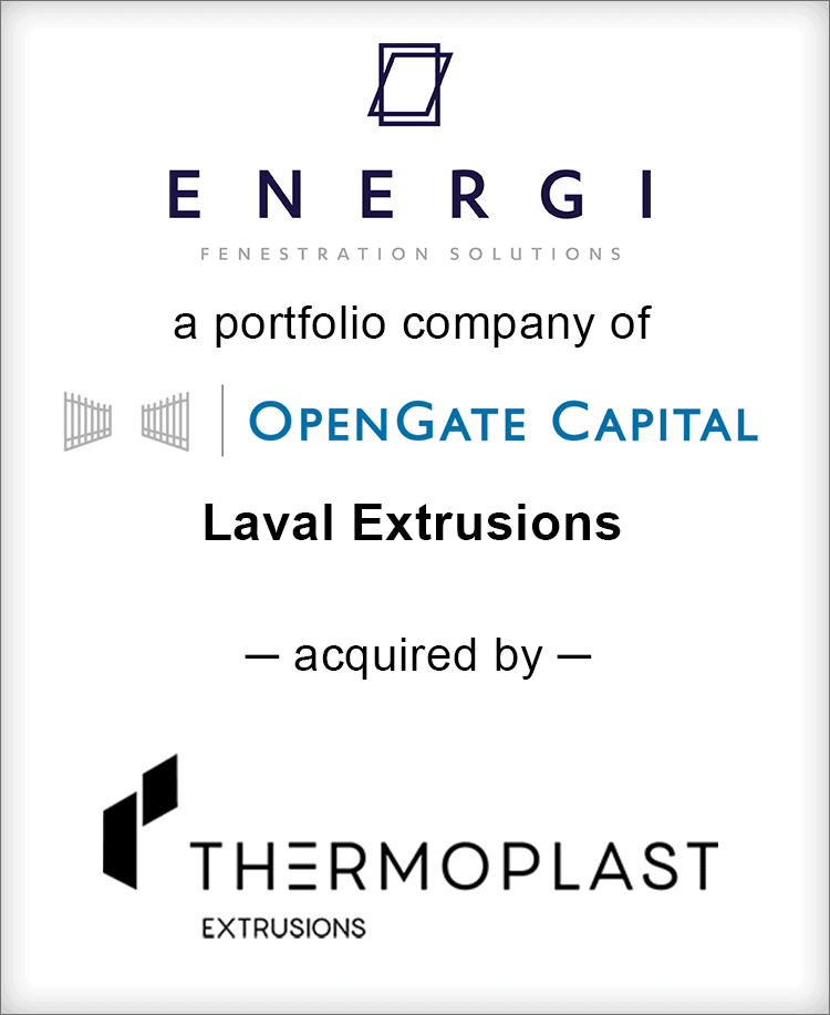 Image for BGL Advises ENERGI Fenestration Solutions – Laval Extrusions Transaction