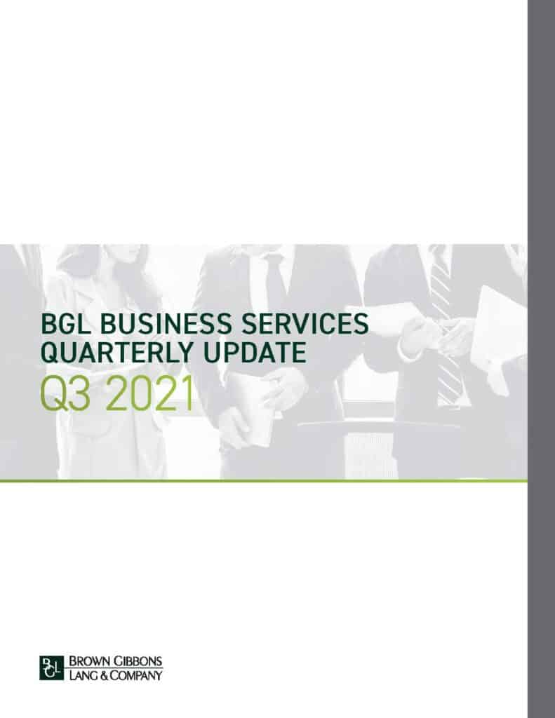 Business Services Update Q3 2021