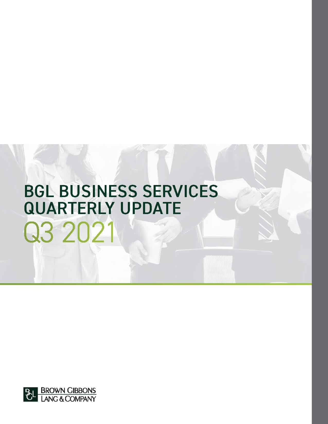 Image for BGL Business Services Quarterly Update – Q3 2021 Research